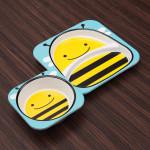 Skip Hop Zoo Melamine Plate and Bowl Set - Bee