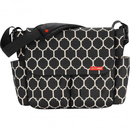 Skip Hop Dash Messenger Diaper Bag, Onyx Tile