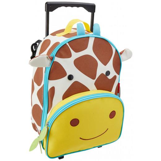 حقيبة مدرسية بعجلات بطبعة زرافة للجنسين من سكيب هوب، متعددة الالوان