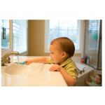 فرشاة أسنان الرضع الى الاطفال من دكتور براون (أزرق