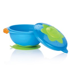 Nûby Bowl with Suction Ring - Blue
