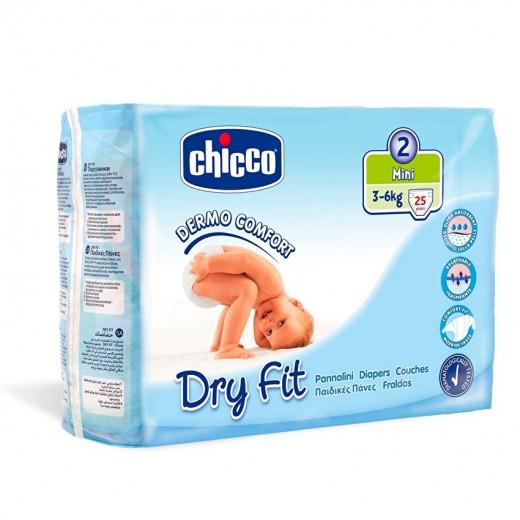 Chicco Dry Fit Plus Size 2 Mini 3-6 KG 25 PCS