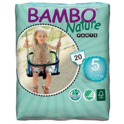 Bambo Nature Baby Training Pants Classic, Size 5 (12-20 Kg), 20 Count