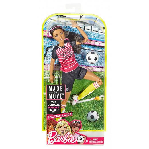 دمية لاعبة كرة القدم من باربي