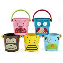 Skip Hop Zoo Bath Stack and Pour Bucket Rinse Cups