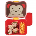 طقم حافظة الطعام للاطفال مع اشكال حديقة الحيوان من سكيب هوب, مونكي