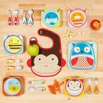 مجموعة أدوات المائدة والشوكة والمعلقة للأطفال الصغار من سكيب هوب, الكلب