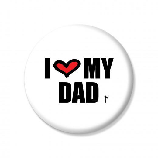 دبوس أنا أحب أبي