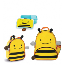 Skip Hop Zoo Little KId Backpack,Lunchie & Lunch Kit - Bee