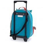 حقيبة مدرسية بعجلات بطبعة بومة للجنسين من سكيب هوب، متعددة الالوان