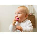 Jordan Children's Toothbrush Step 1, (0-2 years) Soft Brush - Orange
