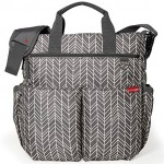 Skip Hop Duo Signature Carry All Travel Diaper Bag Tote with Multipockets, One Size, Grey Feather