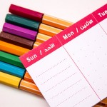 YM Sketch-Weekly Mini Task Planner -  6.5825 Cm - Red