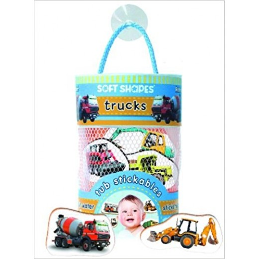 Innovative Kids - Soft Shapes Tub Stickables: trucks