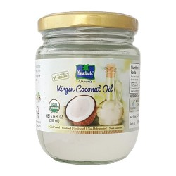 Parachute Coconut Oil Organic 100% 200ml (Glass Jar)