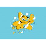 Adam Wa Mishmish T-Shirt for Toddlers - Blue - 6 years