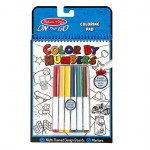 Melissa & Dough On the Go Color by Numbers Kids' Design Boards With 6 Markers - Blue