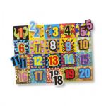 Melissa & Doug's Big Digit Design Chunky Puzzle 20 Pieces