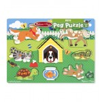 Melissa & Doug Pets Peg Puzzle - 8 Pieces