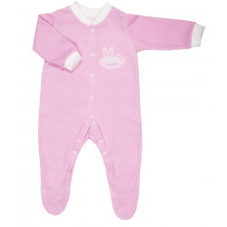 BabySafe Baby Wear Temperature Alert - Sleep Suit (2 pieces) / Pink - 3-6 Months