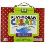 Green Start Play, Draw, Create Dinosaurs Reusable Drawing & Magnet Kit