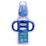 "Dr. Brown's 250 ml Narrow-Neck ""Options compatible"" Sippy Spout Bottle w/ Silicone Handles, Blue, 1-Pack"