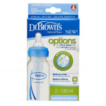 Dr. Brown's 120ml Narrow Neck Options Bottle - Pack of 2 - Blue