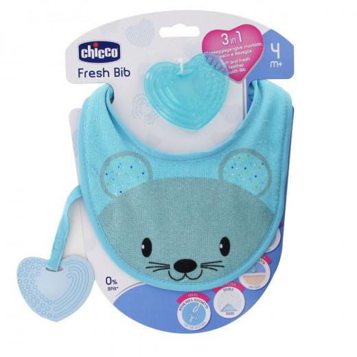 Chicco Fresh Bib, Teething Ring with Blue Bib