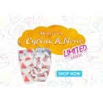 Pure Born - Organic Nappy Size 5, Cyrine Limited Edition Print, 11-18 Kg, 22 Nappies, Cheetah