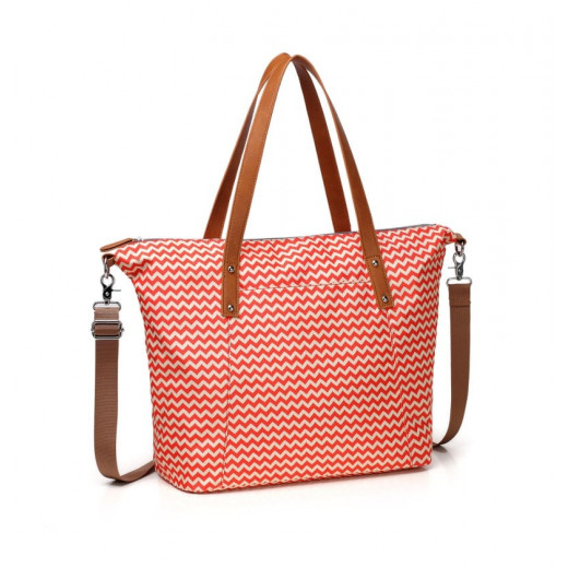 Colorland Avril Multi Functional Mummy Bag Diaper Bag - Orange Chevron