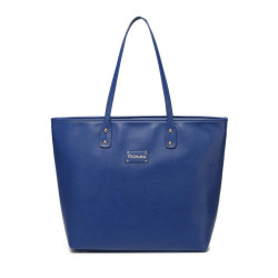 Colorland Ariana Faux Leather Tote Baby Diaper Bag Shoulder Fashion Bag (Blue)