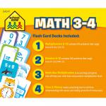 School Zone - Math 3-4 Flash Card 4-Pack