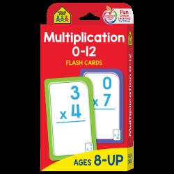 School Zone - Multiplication 0-12 Flash Cards