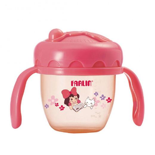 Farlin - Gulu Gulu 2 Straw Drinking Cup 120ML - Pink