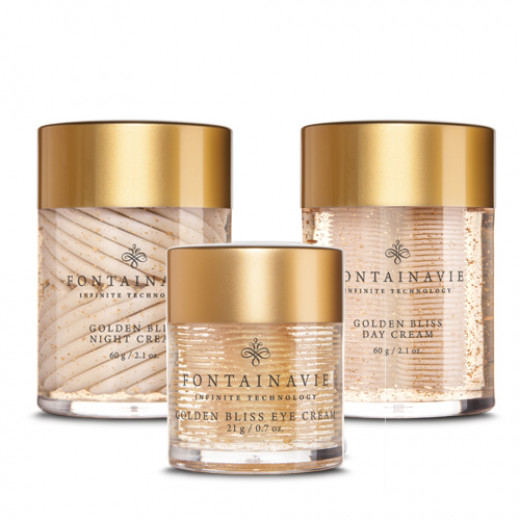Federico Mahora Golden Bliss Facial Care Package Includes Day Cream, Eye Cream, Night Cream