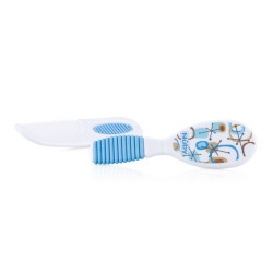 Nuby Comb & Brush 3m+ - Blue
