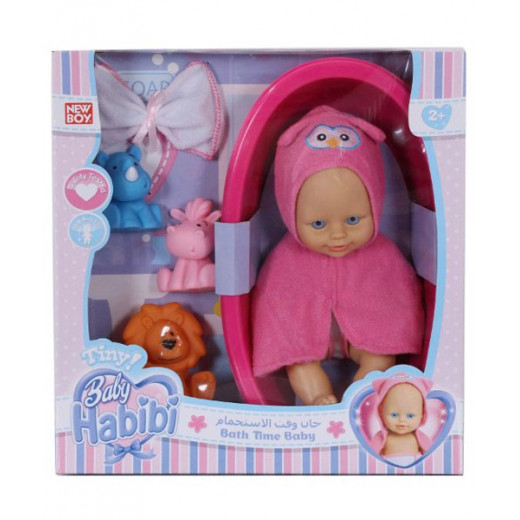 "Baby Habibi Basic - 10"" Bathtime Baby Pink"