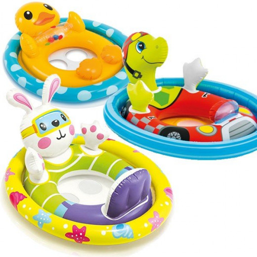 Intex See Me Sit Pool Rider Floats Ring Tube, Duck, Bunny & Racing Turtle - Assortment