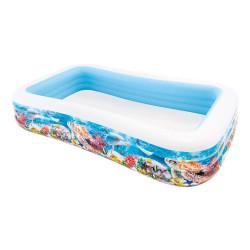 Intex - Inflatable Pool, 305 x 183 x 56 cm, 999 L, Tropical design
