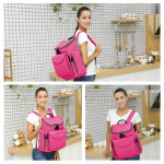 Colorland Burnell Baby Changing Backpack, Pink