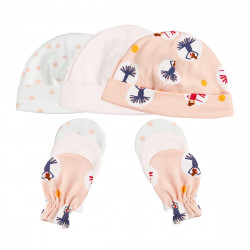 Colorland = (6) Baby Hat & Gloves 3 Pieces In One Pack