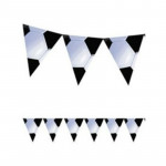 Amscan - Soccer Black and White 3.6 meters Flag Banner Party Decoration