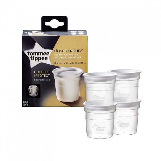 أواني تخزين الحليب من تومي تيبي × 4