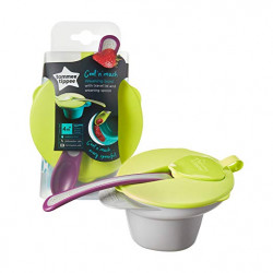 Tommee Tippee Explora Cool and Mash Bowl 4M+, Purple&Green