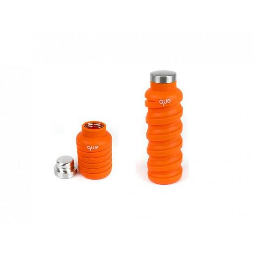 Que Collapsible Water Bottle, Sunbeam Orange, 590 ml