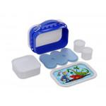 صندوق غداء يوبو ديلوكس - اللون: الازرق بتصميم الديناصورات