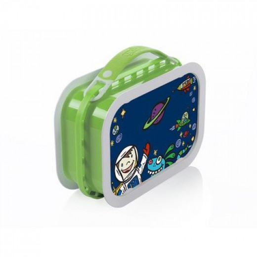 Yubo Deluxe Lunchbox-Color: Green-Space