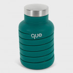 Que Collapsible Water Bottle, Forest Green, 590 ml