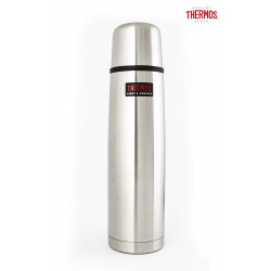 Thermos Light and Compact Flask, Stainless Steel, 1.0 L, Silver