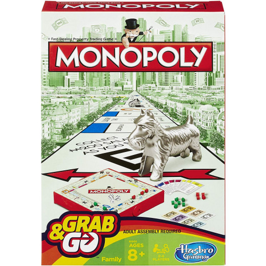 Hasbro - Monopoly Grab and Go Game (Travel Size)